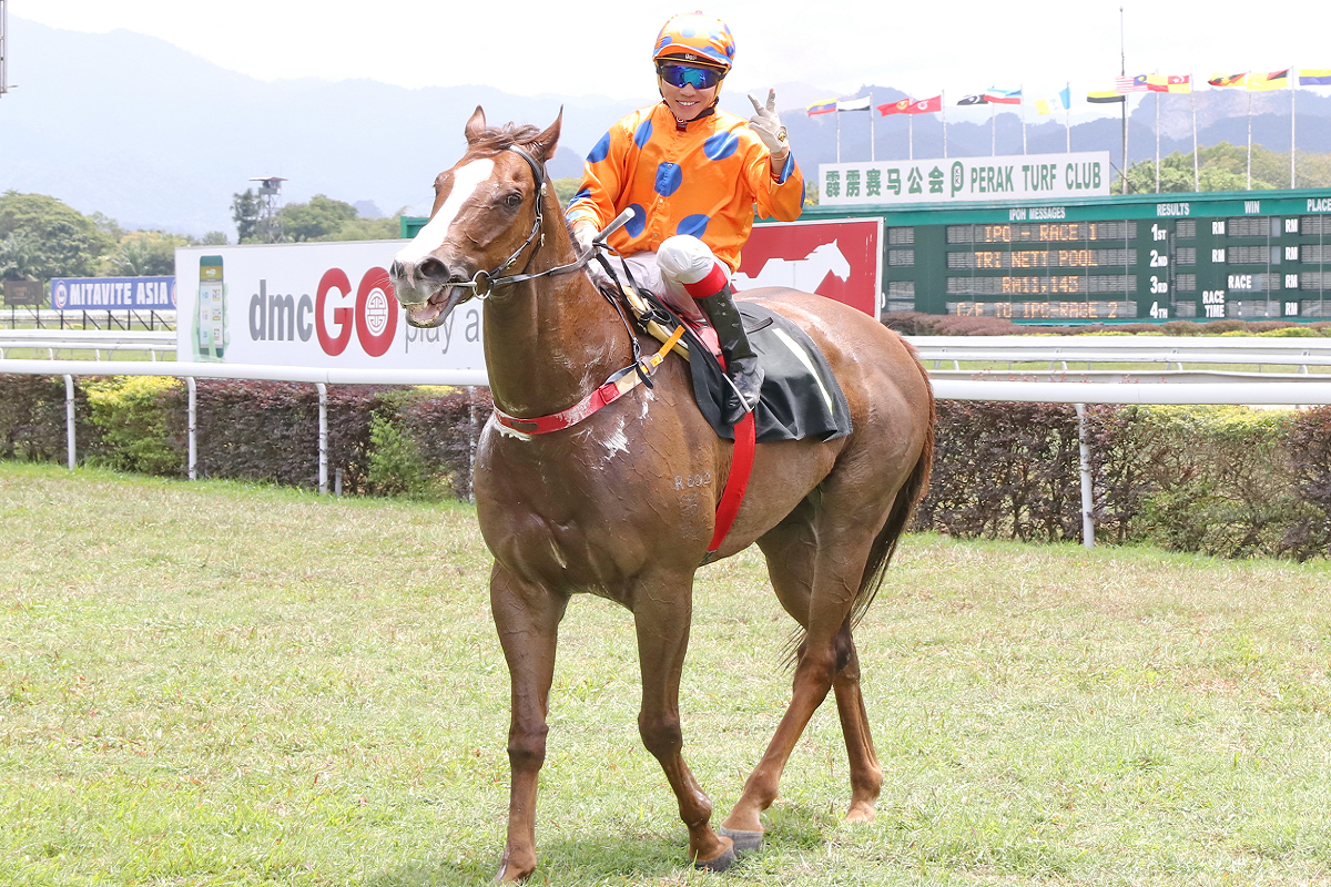 CERDAN WINS FIRST TIME DOWN THE IPOH STRAIGHT
